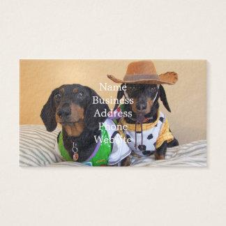 Funny Dachshund - dog cowboy Business Card