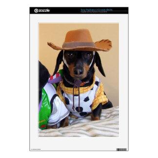 Funny Dachshund - dog cowboy PS3 Console Skins