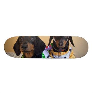 Funny Dachshund - dog cowboy Skateboard