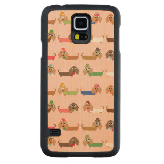 Funny Dachshund Dogs Carved Maple Galaxy S5 Slim Case