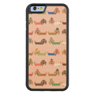 Funny Dachshund Dogs Carved® Maple iPhone 6 Bumper