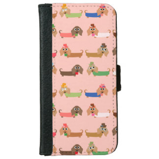 Funny Dachshund Dogs Wallet Phone Case For iPhone 6/6s