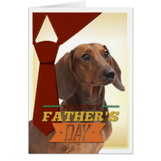 Funny Dachshund Father's Day Card