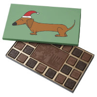 Funny Dachshund in Santa Hat Christmas Chocolates