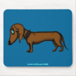 Funny dachshund mousepad design