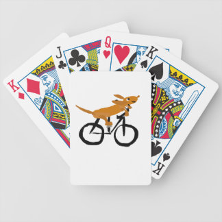 Funny Dachshund Riding Bicycle Bicycle Playing Cards