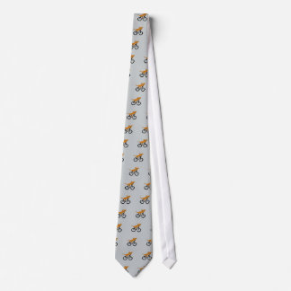 Funny Dachshund Riding Bicycle Neck Tie