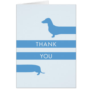 Funny Dachshund Thank You Card