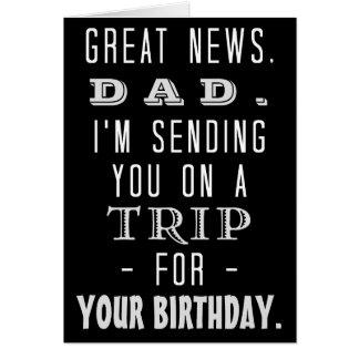 Funny Dad Birthday Trip Retro Hippie Humor Card