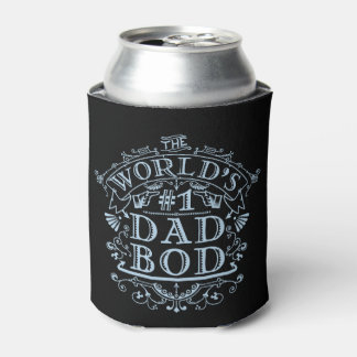 Funny Dad Bod Vintage Antique Humorous Fathers Can Cooler