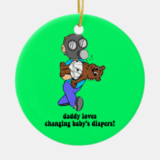 Funny dad ceramic ornament