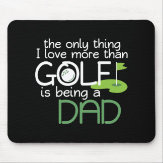 Funny Dad Golf Player Fathers Day Vintage Sports Mouse Pad