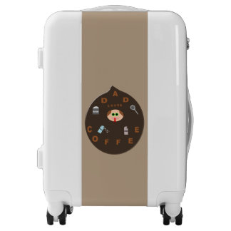 Funny Dad Monster Loves Coffee Carry on Suitcase Luggage