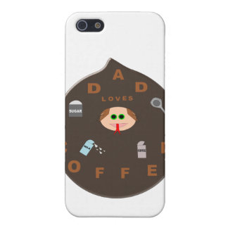 Funny Dad Monster Loves Coffee  Cover For iPhone SE/5/5s