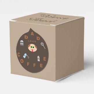 Funny Dad Monster Loves Coffee Custom Favor Box