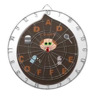 Funny Dad Monster Loves Coffee Dart Board