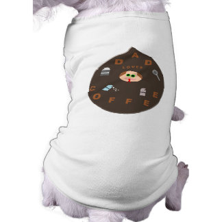 Funny Dad Monster Loves Coffee Dog T Shir Shirt