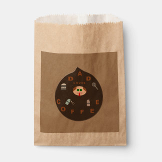 Funny Dad Monster Loves Coffee Favor Bags