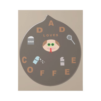 Funny Dad Monster Loves Coffee Gallery Wrap
