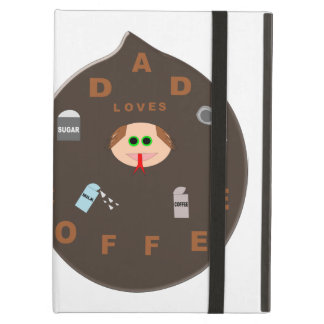 Funny Dad Monster Loves Coffee iPad Case