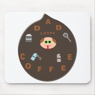 Funny Dad Monster Loves Coffee Mousepad
