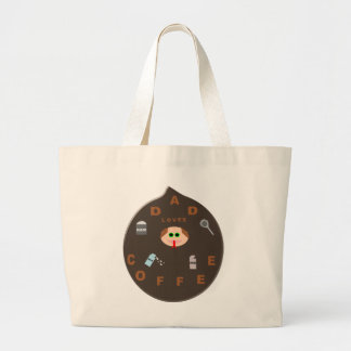 Funny Dad Monster Loves Coffee Tote Bag