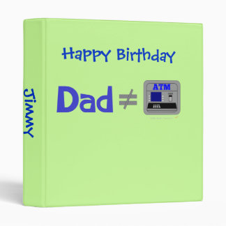 Funny Dad Not Equal ATM Binder