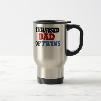 Funny Dad of Twins 15 Oz Stainless Steel Travel Mug