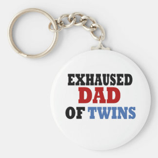 Funny Dad of Twins Keychain