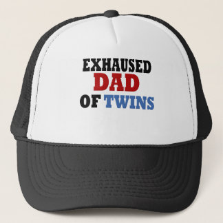 Funny Dad of Twins Trucker Hat