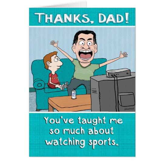 Funny Dad Sports Nut Father S Day Card Zazzle Com