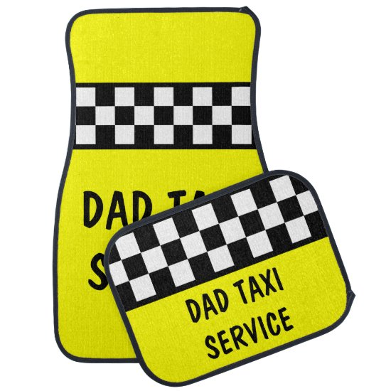 Funny Dad Taxi Service Car Mats Set