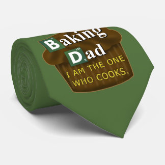 Funny Dad Who Bakes or Cooks Spoof Parody Father's Neck Tie