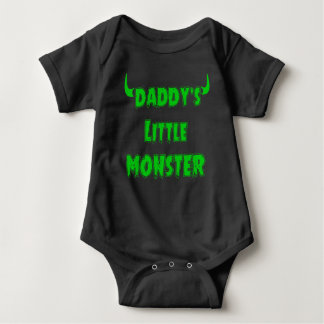 Funny Daddy's Little Monster - Gothic Baby Clothes Baby Bodysuit