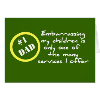 Funny Dadism, Best Dad Card