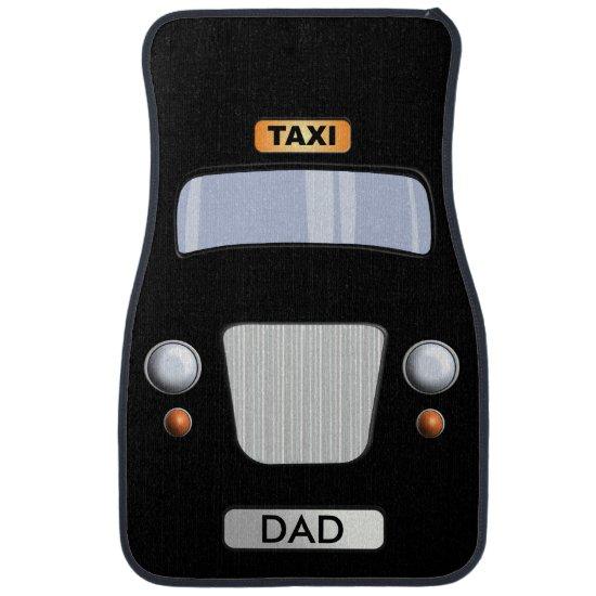 Funny Dad's Black Taxi Cab Car Floor Mats