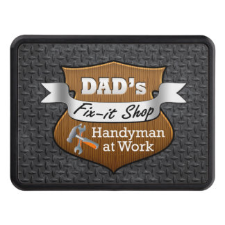 Funny Dad's Fix-it Shop Handy Man Father's Day Hitch Cover