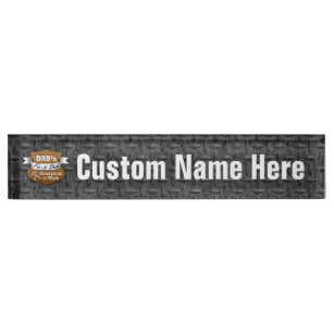 co funny name zazzle plate uk plates boss desk nameplates copper