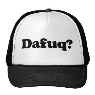 Funny dafuq humor trucker hat