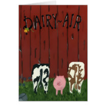 Funny Dairy Air Note Card