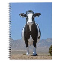 Funny Dairy Cow Statue Desert Heifer Cattle Animal Notebook