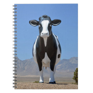 Funny Dairy Cow Statue Desert Heifer Cattle Animal Notebook