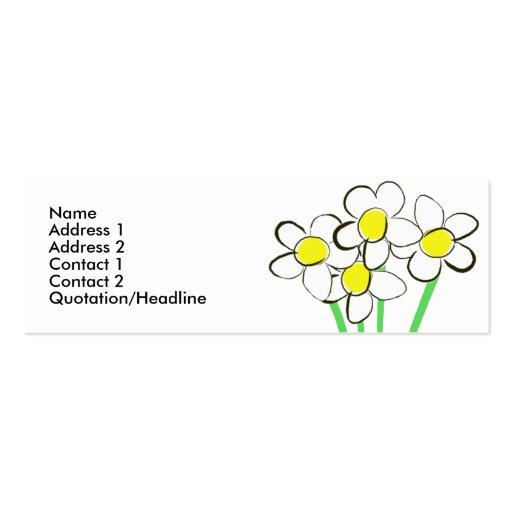 Funny daisy business card