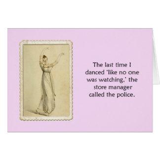 Funny Dance Blank Inside Ackerman Greeting Card