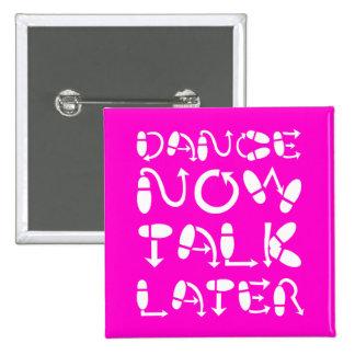 Funny dance pinback button