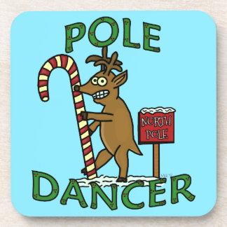 Funny Dancer Christmas Reindeer Pun Coaster