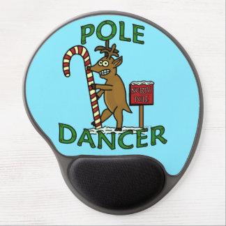 Funny Dancer Christmas Reindeer Pun Gel Mousepad