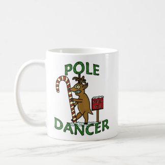 Funny Dancer Christmas Reindeer Pun Classic White Coffee Mug