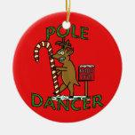 Funny Dancer Christmas Reindeer Pun Christmas Ornaments
