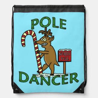 Funny Dancer Christmas Reindeer Pun Backpack
